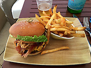 Grand Cayman. Seven Mile Beach. The Ritz-Carlton, Grand Cayman. Burgers at Bar Jack.