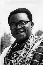 Aug. 4, 1960 - Location Unknown - Chief ANTHONY ENAHORO (1923-2010), was one of Nigeria's foremost anti-colonial and pro-democracy activists. He has a long career in press, politics and civil service. PICTURED: Anthony Enarhoro close-up.(Credit Image: © Keystone Press Agency/Keystone USA via ZUMAPRESS.com)