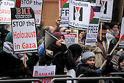 London 04/01/09: Protests outside the Israeli Embassy in London UK: Woment and children joined in the calls for the fighting to stop in Gaza