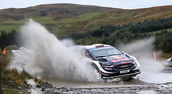 M-Sport Ford's Sebastien Ogier on the Sweet Lamb stage during day three of the DayInsure Wales Rally GB. PRESS ASSOCIATION Photo. Picture date: Saturday October 6, 2018. See PA story AUTO Rally. Photo credit should read: David Davies/PA Wire. RESTRICTIONS: Editorial use only. Commercial use with prior consent from teams.