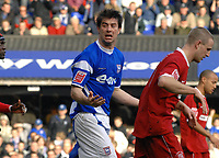 Photo: Ashley Pickering.<br />Ipswich Town v Southend United. Coca Cola Championship. 10/03/2007.<br />Alan Lee of Ipswich shows his disappointment at a missed chance