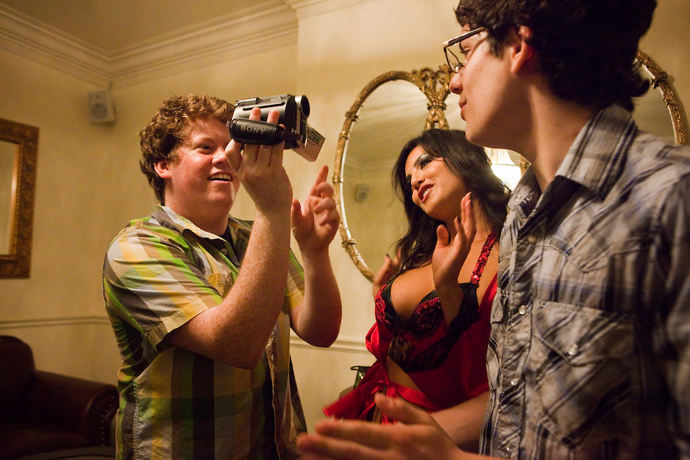 """Zack Pearlman, left, and Matt Bennett in Columbia Pictures' comedy """"The Virginity Hit."""""""
