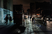 Photos taken after the storm Sandy and during the blackout that followed in some parts of Brooklyn and Manhattan, New York City, 2012.
