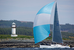 Sailing - SCOTLAND  - 26th May 2018<br /> <br /> DAY 2 Racing the Scottish Series 2018, organised by the  Clyde Cruising Club, with racing on Loch Fyne from 25th-28th May 2018<br /> <br /> IRL1335, Spirit of Jacana, AlanBruceJames Douglas, Carrickfergus SC <br /> <br /> Credit : Marc Turner<br /> <br /> Event is supported by Helly Hansen, Luddon, Silvers Marine, Tunnocks, Hempel and Argyll & Bute Council along with Bowmore, The Botanist and The Botanist