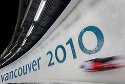 Olympic Winter Games Vancouver 2010 - Olympische Winter Spiele Vancouver 2010, Luge, Rodeln, Rennrodeln, Feature, symbolic shot, Bewegung, verwischt,  Eiskanal, Rennbahn, Eisrinne, Fahrbahn, Bahn,  * Photo by Malte Christians / HOCH ZWEI / SPORTIDA.com.