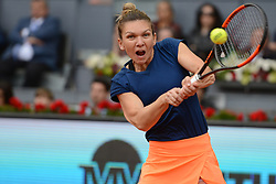 May 13, 2017 - Madrid, Spain - SIMONA HALEP of Romania in the final of the Mutua Madrid Open tennis tournament. (Credit Image: © Christopher Levy via ZUMA Wire)