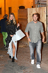 Francesco Totti and Ilary Blasi dinner out - 17 Sep 2017