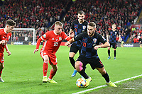 Football - 2019 / 2020 UEFA European Championships Qualifier - Group E: Wales vs. Croatia<br /> <br /> Nikola Vlasic of Croatia on the attack Joe Morrell of Wales defends , at Cardiff City Stadium.<br /> <br /> COLORSPORT/WINSTON BYNORTH
