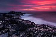 Black Sea coast at winter dawn