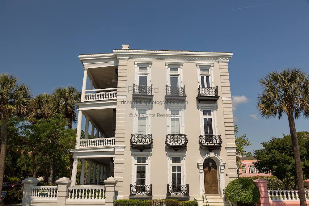 Louis DeSaussure House on East Battery in historic Charleston, SC.