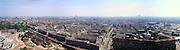 Nederland, Amsterdam, Haarlemmerweg, 17/05/2002; vergezicht stadsgezicht panorama ter hoogte van gashouder, met van links naar rechts: Stadsdeelkantoor en Westergasfabriek, aanleg uitbreiding nieuw Westerpark; negentiende eeuwse woonbuurt, nieuwbouw ecologische woonwijk op voormalig terrein Gemeentelijke waterleiding (GWL) met watertoren; economie wonen werken;<br /> luchtfoto (toeslag), aerial photo (additional fee)<br /> foto /photo Siebe Swart