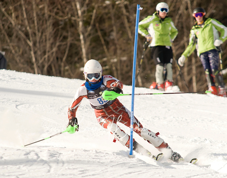 Men's FIS NJR Slalom at Waterville Valley, New Hampshire January 22, 2010.