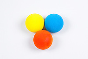 3 sponge balls On white Background