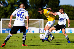 Luka Zinko of NK Bravo vs Marko Pejic of NK Koper during football match between NK Bravo and NK Koper in 4th Round of Prva liga Telekom Slovenije 2020/21, on September 19, 2020 in Sport park ZAK, Ljubljana, Slovenia. Photo by Grega Valancic / Sportida