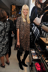 Claudia Schiffer at a reception hosted by Vogue and Burberry to celebrate the launch of Fashions Night Out - held at Burberry, 21-23 Bond Street, London on 10th September 2009.
