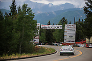 June 30, 2013 - Pikes Peak, Colorado.  Layne Schranz makes his run up the mountain during the 91st running of the Pikes Peak Hill Climb.