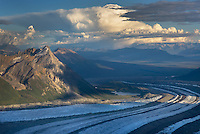 Aerial view of the Kennecott Glacier, Wrangell-St. Elias National Park Alaska