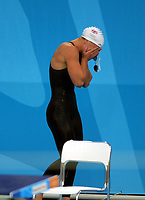 Melanie Marshall (GBR) goes out of the Womens 200m Freestyle Sem-Final. Swimming, Athens Olympics, 16/08/2004. Credit: Colorsport / Andrew Cowie DIGITAL FILE ONLY