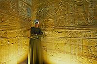 Egypte, Haute Egypte, vallee du Nil, Croisiere entre Louxor et Assouan, Edfou, Temple d'Horus, bas relief // Africa, Egypt, Nile Valley, Edfou, Horus temple, bas relief on the walls