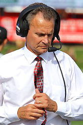 21 October 2017:   Bob Nielson during the South Dakota Coyotes at Illinois State Redbirds Football game at Hancock Stadium in Normal IL (Photo by Alan Look)