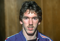 Martin McGaughey, footballer, Linfield, FC, Belfast, N Ireland, January, 1982, 198201000004MMG<br /> <br /> Copyright Image from Victor Patterson, Belfast, UK<br /> <br /> t: +44 28 9066 1296 (from Rep of Ireland 048 9066 1296)<br /> m: +44 7802 353836<br /> e: victorpattersonbelfast@gmail.com<br /> <br /> www.images4media.com<br /> <br /> Please see my full Terms and Conditions of Use at https://www.images4media.com/p/terms-conditions - it is IMPORTANT that you familiarise yourself with them.<br /> <br /> Images used online incur an additional cost. This cost should be agreed in writing in advance. Online images must be visibly watermarked i.e. © Victor Patterson or that of the named photographer within the body of the image. The original metadata must not be deleted from images used online.<br /> <br /> This image is only available for the use of the download recipient i.e. television station, newspaper, magazine, book publisher, etc, and must not be passed on to a third party. It is also downloaded on condition that each and every usage is notified within 7 days to victorpattersonbelfast@gmail.com.<br /> <br /> The right of Victor Patterson (or the named photographer) to be identified as the author is asserted in accordance with The Copyright Designs And Patents Act (1988). All moral rights are asserted.