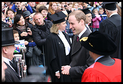 The Duke of Cambridge arriving at the Senate House in Cambridge, Wednesday , 28th November 2012. .Photo by: Stephen Lock / i-Images
