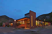 The Newcastle Public Library, designed by A4 Architects, in Newcastle, Colorado. I wanted to show how this building enhances the streetscape of this historic town.