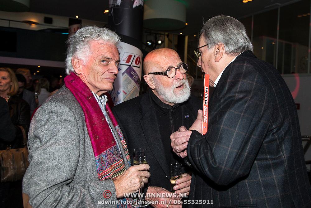 NLD/Hilversum/20150102 - Top40 viert 50 jarig bestaan, Ben Cramer, Pierre Kartner en Jan van Veen