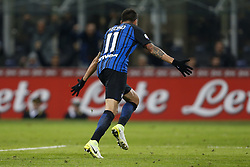 January 21, 2018 - Rome, Italy - Olympic Stadium, MILAN, Italy - 21/01/2018..Matias Vecino of Inter Milan celebrating his goal against Roma during their Italian Serie A soccer match...Credit: Giampiero Sposito/Pacific Press (Credit Image: © Giampiero Sposito/Pacific Press via ZUMA Wire)