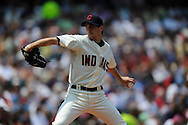 Pitcher Jeremy Sowers of Cleveland..The Minnesota Twins defeated the Cleveland Indians 4-2 on Sunday, July 27, 2008 at Progressive Field in Cleveland.