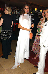 Designer ISABELL KRISTENSEN at a dinner hosted by Ayesha Makim and leading stylist Mohieb Dahabieh to celebrate the forthcoming London Fashion Week held at the exotic restaurant Levant, 76 Wigmore Street, London W1 on 8th September 2005.<br />