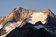 The peaks of the Walliser Fiescherhörner, Aletsch area, Valais, Switzerland