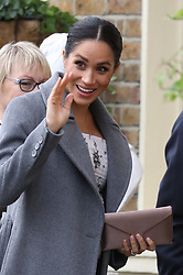 December 18, 2018 - London, London, United Kingdom - Image licensed to i-Images Picture Agency. 18/12/2018. London, United Kingdom.  Meghan Markle, The Duchess of Sussex, arriving for a visit to Brinsworth House, the Royal Variety Charity's residential nursing and care home  in Twickenham, United Kingdom. (Credit Image: © Stephen Lock/i-Images via ZUMA Press)