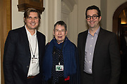 MATT HISCOCK; ANN COFFEY MP, JEFF RAIDER Ann Coffey MP hosts a reception and panel debate  on behalf of Harry's Grooming to launch the Masculinity Report. Houses of Parliament. 16 November 2017.