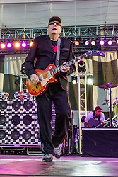 LONG BEACH, CA - APRIL 16 Rock and Roll Hall of fame Cheap Trick gave racing fans an amazing performance of their old hits and new material from their recent album. 2016 April 16. Byline, credit, TV usage, web usage or linkback must read SILVEXPHOTO.COM. Failure to byline correctly will incur double the agreed fee. Tel: +1 714 504 6870.