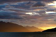 Sunset at Bird Point, Cook Inlet, Alaska.
