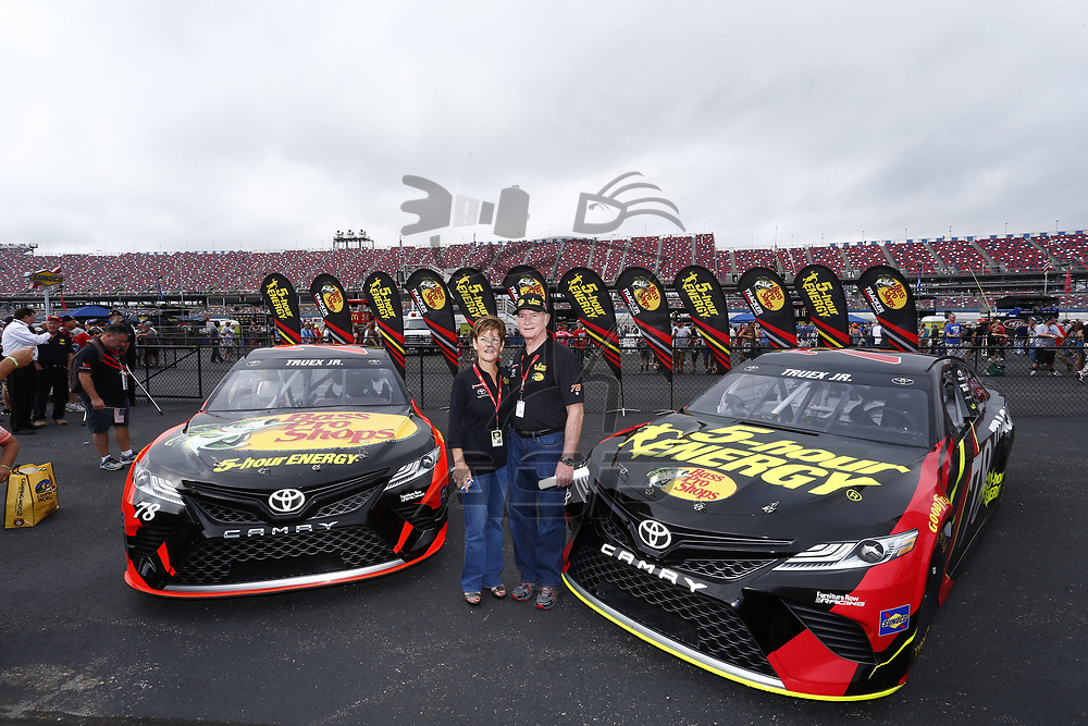 October 15, 2017 - Talladega, Alabama, USA: Furniture Row Racing unveils new primary sponsorships for the 2018 season prior to the green flag for the Alabama 500 at Talladega Superspeedway in Talladega, Alabama.