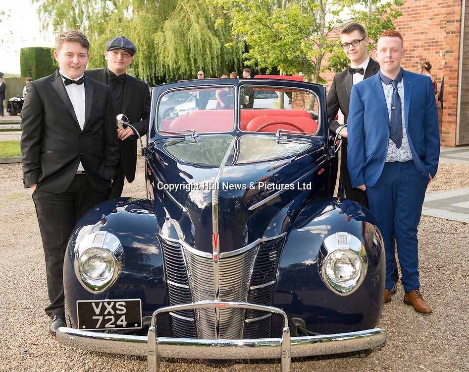 20 June 2019: Cleethorpes Academy Year 11 Prom at Brackenborough Hotel near Louth.<br /> (L-r) Liam Tombs, Taylor Nichols, Toby Hicks and Ben Massey.<br /> Picture: Sean Spencer/Hull News & Pictures Ltd<br /> 01482 210267/07976 433960<br /> www.hullnews.co.uk         sean@hullnews.co.uk