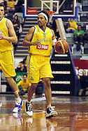 CJ Bruton in action for Australia during the Ramsay Shield, Australia Post Boomers v New Zealand, Game 2, 2008.  Played at the State Netball & Hockey Centre. Australian Post Boomers defeated New Zealand. .Photo: Joel Strickland / SMP Images.Use information: This image is intended for Editorial use only (e.g. news or commentary, print or electronic). Any commercial or promotional use requires additional clearance.