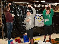 Gilford High School Homecoming preparations for Spirit Hallways - Four Seasons.    ©2014 Karen Bobotas Photographer