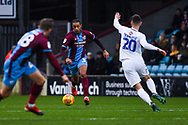 Cameron Borthwick-Jackson of Scunthorpe United (3) in action during the EFL Sky Bet League 1 match between Scunthorpe United and Coventry City at Glanford Park, Scunthorpe, England on 5 January 2019.