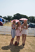 JUDITH PAGE; NATASHA PAGE; GEORGINA HENDERSON, Veuve Clicquot Gold Cup, Cowdray Park, Midhurst. 21 July 2013