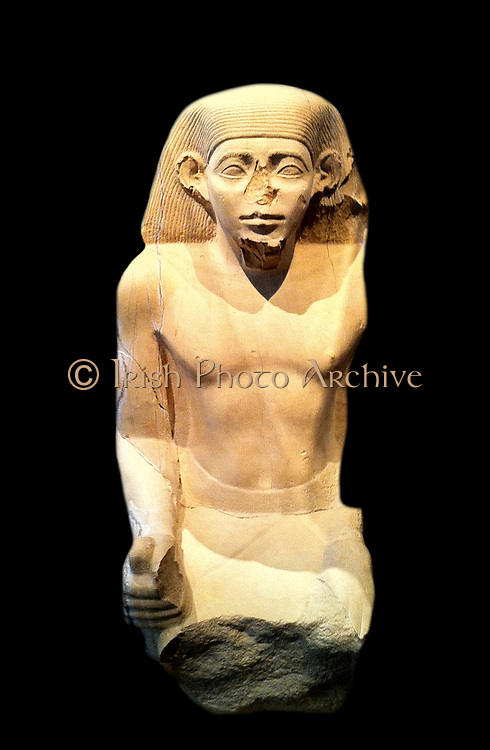 Seated Statue from the Tomb of Senwosretankh, the Chief Priest of Ptah and Overseer of Works    ca. 1930–1910 B.C.  33.1.2a–c