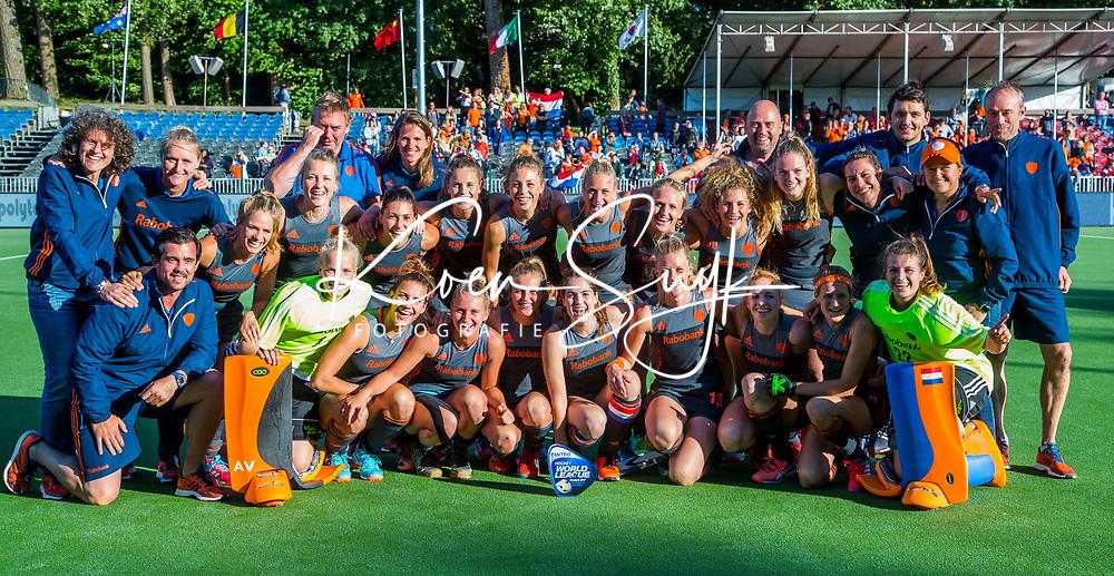 BRUSSEL -  Nederlandse dames winnen  de finale Nederland-China (2-0)  bij de halve finale ronde Hockey World League (dames) .  COPYRIGHT KOEN SUYK