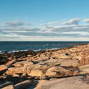 The rocky granite coast of Gloucester, Massachusetts