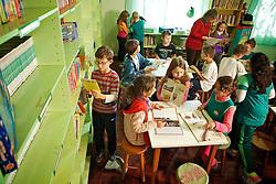 Alunos durante o turno de aula da manhã na Escola Municipal de Ensino Fundamental Dr. Jacob Kroeff Neto, na cidades de Novo Hamburgo, Rio Grande do Sul. FOTO: Jefferson Bernardes/Preview.com