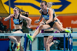Nadine Visser in action on the 60 meter hurdles during AA Drink Dutch Athletics Championship Indoor on 21 February 2021 in Apeldoorn.