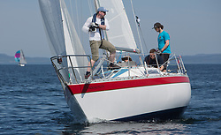 Sailing - SCOTLAND  - 25th-28th May 2018<br /> <br /> The Scottish Series 2018, organised by the  Clyde Cruising Club, <br /> <br /> First days racing on Loch Fyne.<br /> <br /> GBR3742T, Radioactivity, Oliver Epsom, CCC, Colvic UFO 27<br /> <br /> Credit : Marc Turner<br /> <br /> <br /> Event is supported by Helly Hansen, Luddon, Silvers Marine, Tunnocks, Hempel and Argyll & Bute Council along with Bowmore, The Botanist and The Botanist