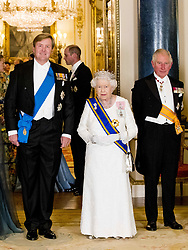 Queen Maxima and King Willem-Alexander of the Netherlands, Queen Elizabeth II, The Prince of Wales attend a State Banquet at Buckingham Palace in London, during their State Visit to the UK on October 23, 2018. Photo by Robin Utrecht/ABACAPRESS.COM