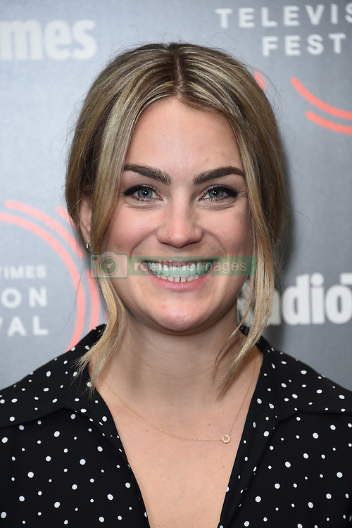 Georgie Barrat pictured during the BFI and Radio Times Television Festival, at the BFI South Bank in London. Picture date: Friday April 12, 2019. Photo credit should read: Matt Crossick/Empics